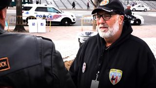 Bikers for Trump are attending the inauguration day events to be a 'wall of meat' between crowds and law enforcement.
