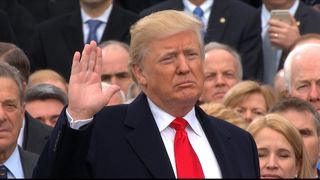 Donald Trump is sworn is as the 45th US President