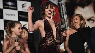 Milla Jovovich attends the world premiere of Resident Evil: The Final Chapter