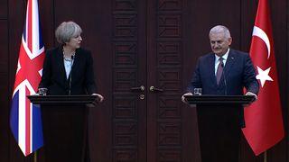 Theresa May and Binali Yildirim