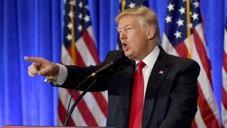 """""""You are fake news!"""" – Donald Trump hits out at the media during a press conference."""