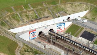 The tanks were moved through the Channel Tunnel. File pic