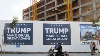A placard in Tel Aviv soon after the election of Donald Trump