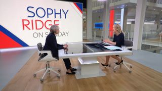 Theresa May appears on Sophy Ridge on Sunday