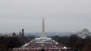 Protesters gather on the National Mall in Washington