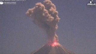 Mexico's Colima volcano erupts during the day and at night