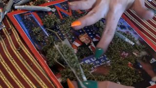 Campaigners are handing out joints during Trump inauguration as part of a campaign to get more states to legalise marijuana.