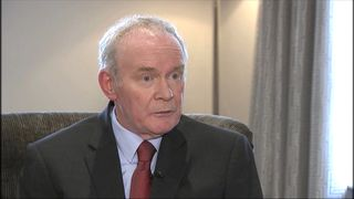 Martin McGuinness discusses his withdrawal from prominence in Northern Ireland politics