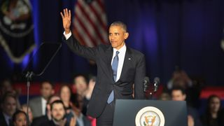 Barack Obama thanks the American people as he delivers his Farewell Address to the nation.