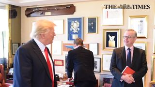 Mr Gove and a German journalist both interviewed the incoming president