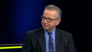 Michael Gove appearing on Sky News' Nation Divided debate programme