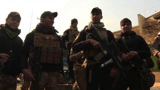 Iraqi soldiers in Mosul speak to Sky News