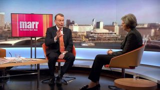 Theresa May answers Andrew Marr's question on the Trident failed test 'cover up'