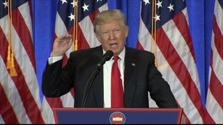 Donald Trump shares his revised views of news organisations during his first news conference for months