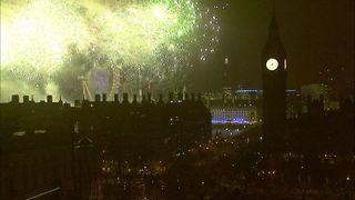 The fireworks lit up London's skyline