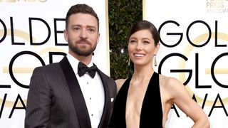 Singer/actor Justin Timberlake (L) and actress Jessica Biel attend the 74th Annual Golden Globe Awards at The Beverly Hilton Hotel on January 8, 2017 in Beverly Hills, California