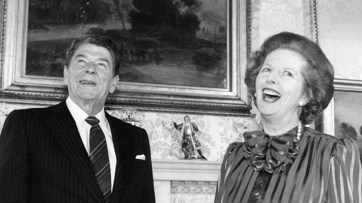 PM Margaret Thatcher had a close relationship with President Reagan