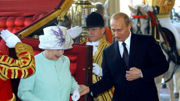 The Queen and Vladimir Putin