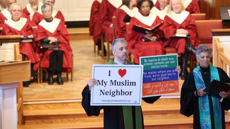 Pastor Matt Braddock of Christ Congregational Church in a suburb of Washington, DC