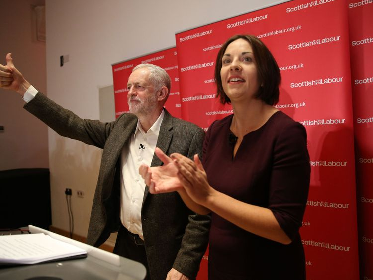 Labour leader Jeremy Corbyn and Scottish Labour leader Kezia Dugdale