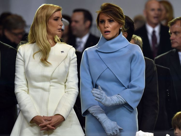 Melania and Ivanka Trump at the inauguration
