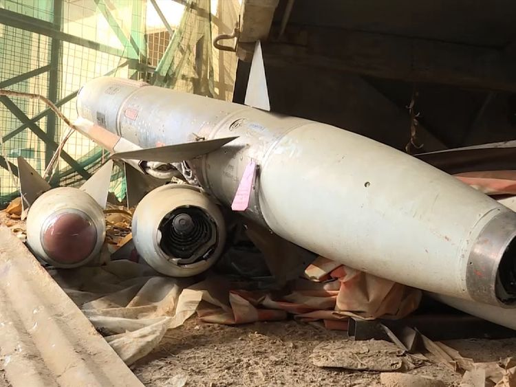 Some of the weapons had Russian markings