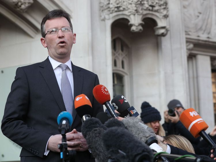 Attorney General Jeremy Wright QC outside The Supreme Court in London