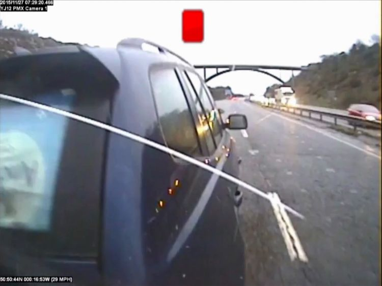 CCTV shows the Compass bus hitting the BMW