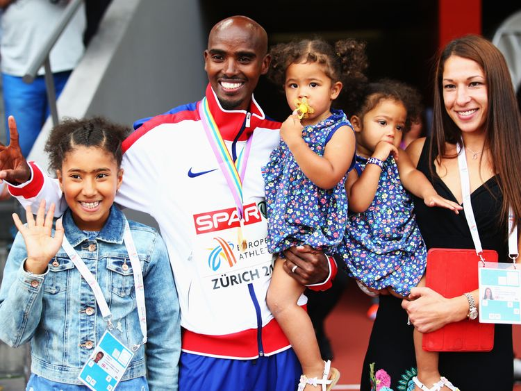 Sir Mo Farah and his family