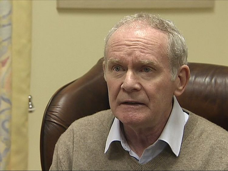 Martin McGuinness gives a press conference stating his reasons for resigning