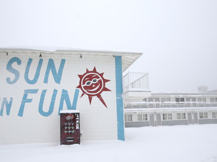 A general view of a hotel on January 7, 2017 in Ocean City, Maryland