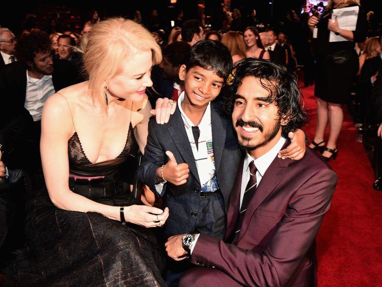 The stars of 'Lion', Nicole Kidman, Sunny Pawar and Dev Patel