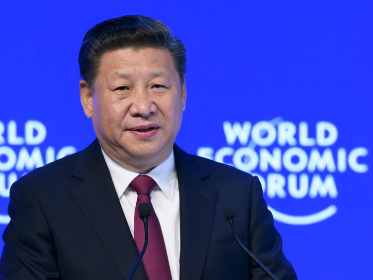 Chinese President Xi Jinping at the World Economic Forum