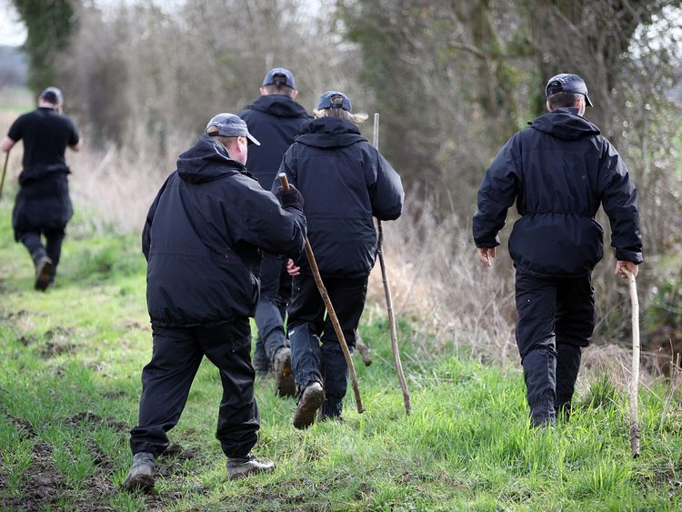 Police searching farm land near the University of York in 2010