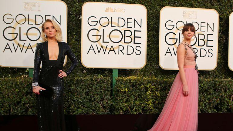 Actress Kristen Bell and Felicity Jones