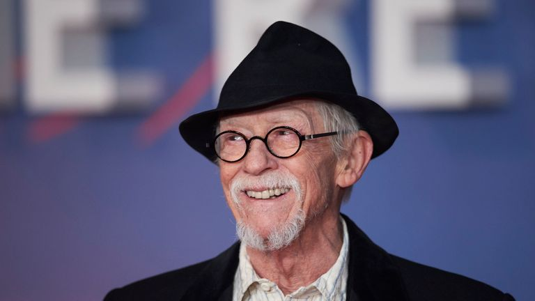 Sir John Hurt was knighted by the Queen in 2015