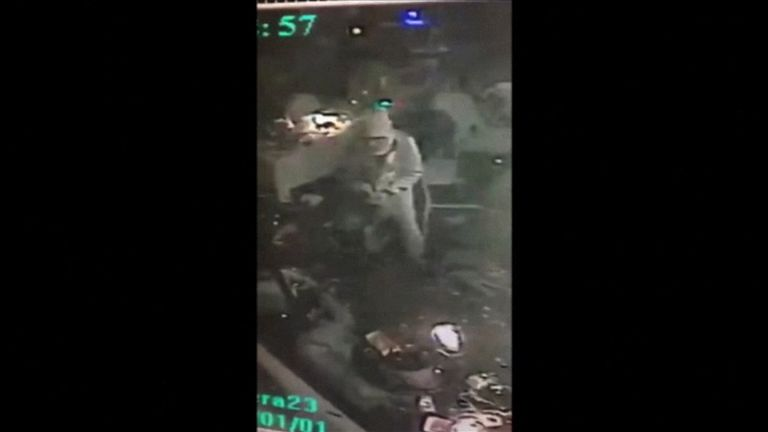 Caught on camera: The suspected gunman inside the club