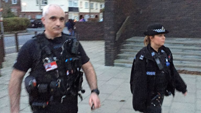 Police Constables Jessica Chick and Stuart Young
