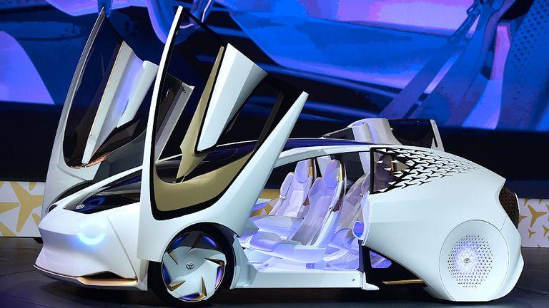 The Toyota Concept-i vehicle