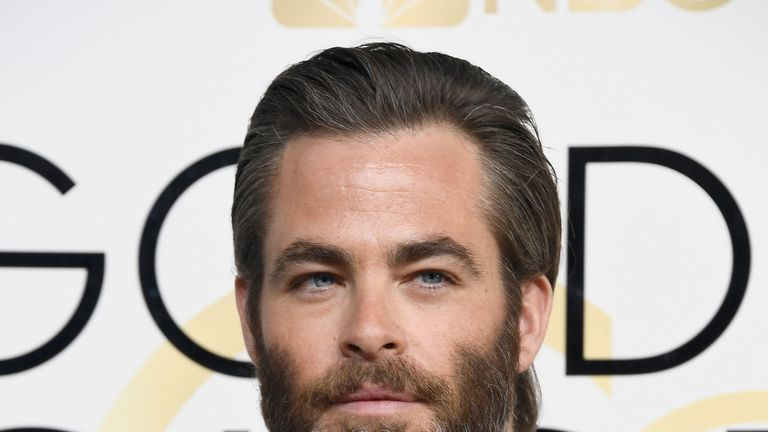 Actor Chris Pine attends the 74th Annual Golden Globe Awards at The Beverly Hilton Hotel on January 8, 2017 in Beverly Hills, California