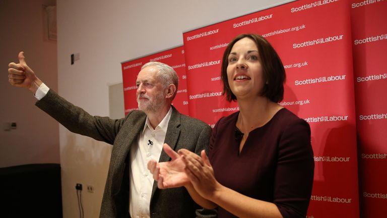 Labour leader Jeremy Corbyn and Scottish Labour leader Kezia Dugdale
