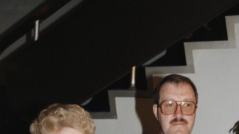 Gorden Kaye with Allo Allo! co-star Carmen Silvera at the BAFTAs in 1986