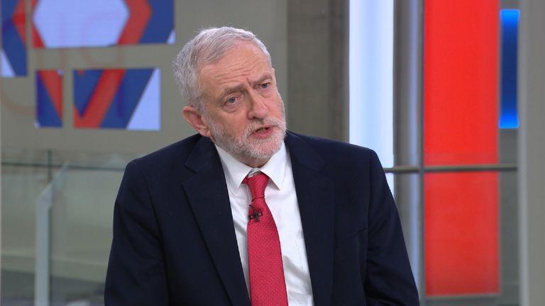 Jeremy Corbyn on Sophy Ridge on Sunday