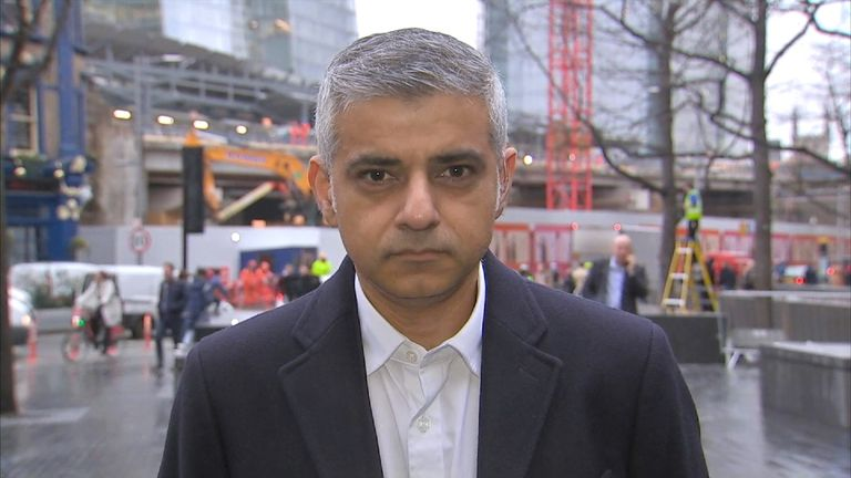 London may Sadiq Khan says the strike is unnecessary