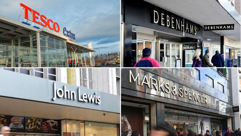 Tesco, Debenhams, John Lewis and Marks & Spencer all reveal Christmas updates today