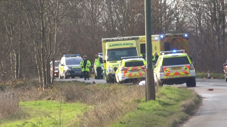 The road was  closed after the two men were killed