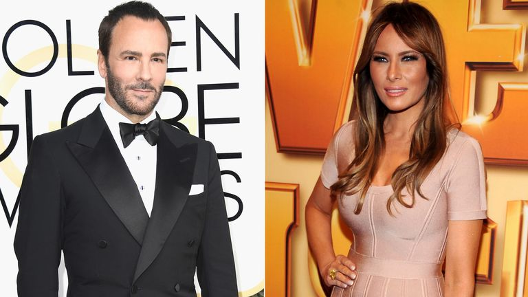 Tom Ford and Melania Trump