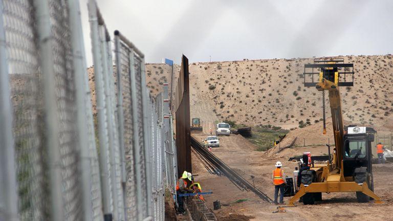 Mexico-US border wall