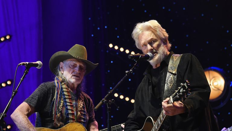 Willie Nelson and Kristofferson perform at The Life & Songs of Kris Kristofferson