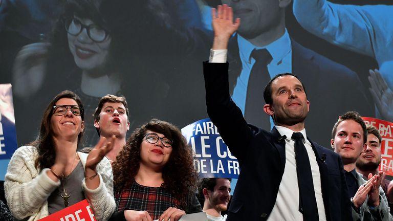 Benoit Hamon during the last days of campaigning